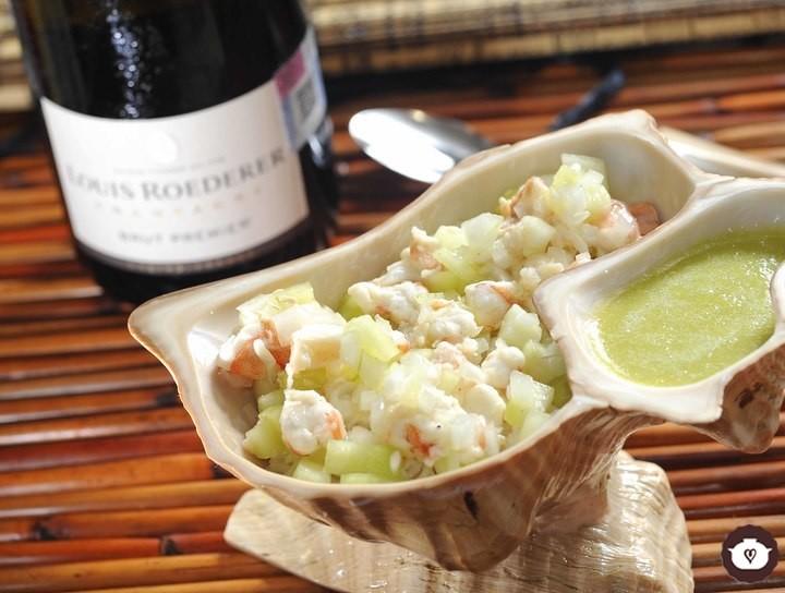 Ceviche nayarita de camarón estilo aguachile