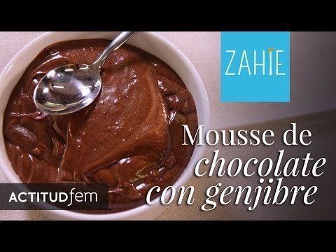 Mousse de chocolate con jengibre