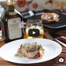 Filete mignon con salsa de champiñones