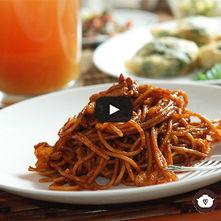 Spaghetti con piña