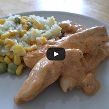 Tiras de pollo al chipotle