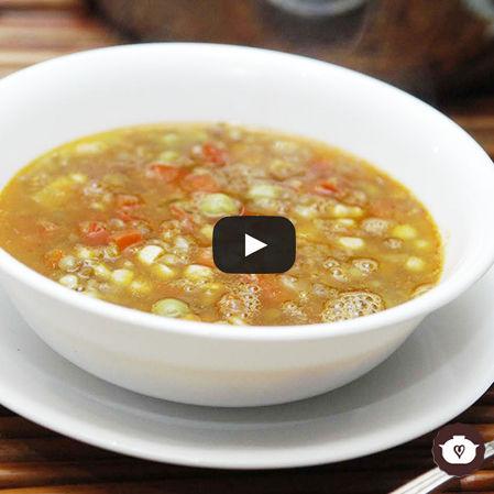 Lentejas con chorizo y verduras