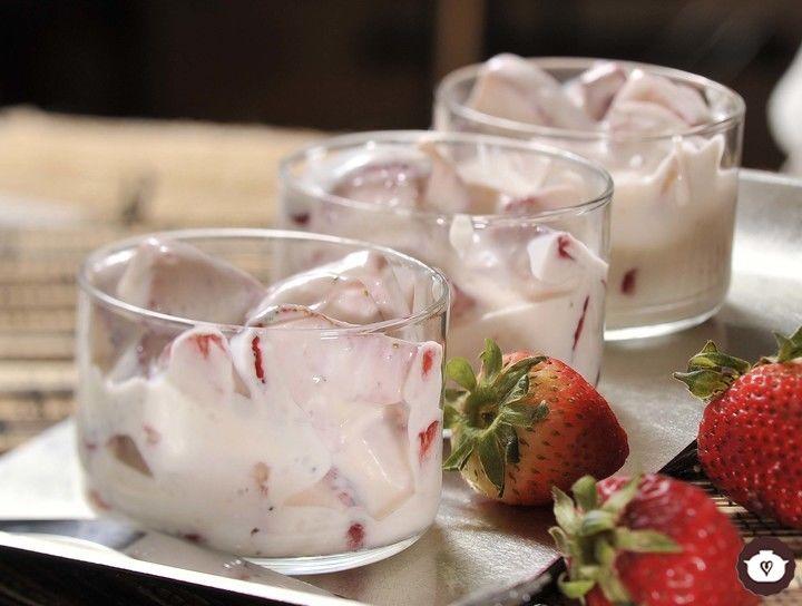 Fresas con crema