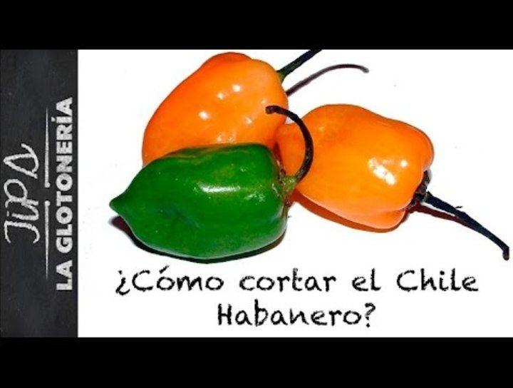 ¿Cómo cortar el chile habanero?