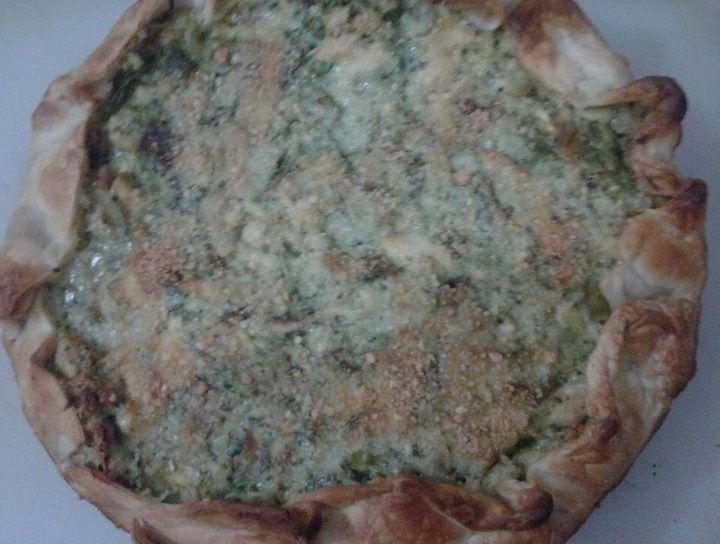 Tarta de brócoli y pollo