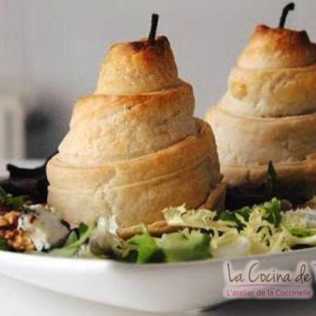 Ensalada de peras, nueces y queso gorgonzola