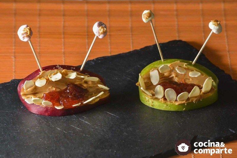 Manzanas de miedo para Halloween