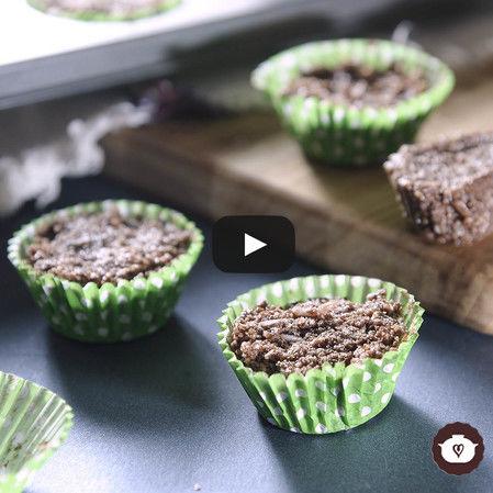 Mini cupcakes de chocolate sin harina sin horno