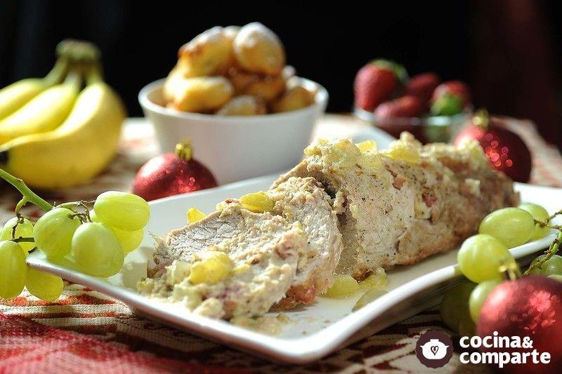 Lomo de cerdo en salsa de uvas
