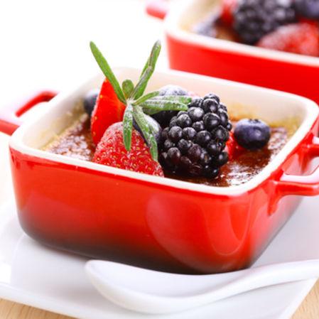 Natilla con frutos rojos