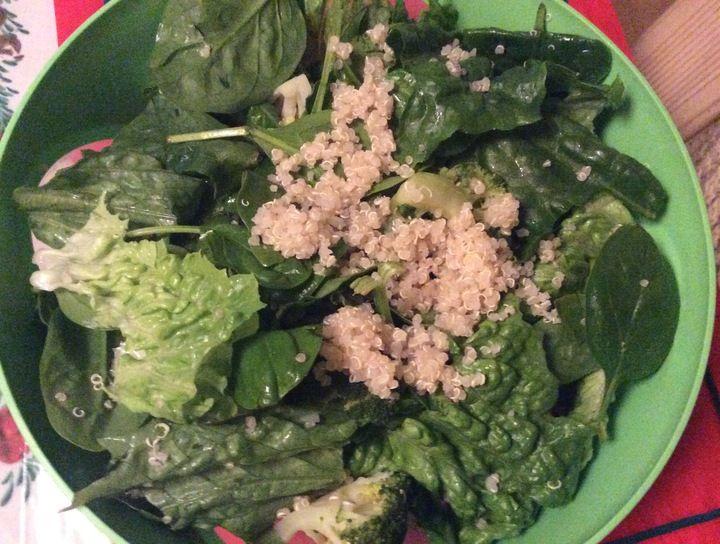 Ensalada verde con quinoa