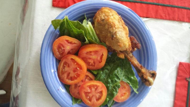 Pollo empanizado