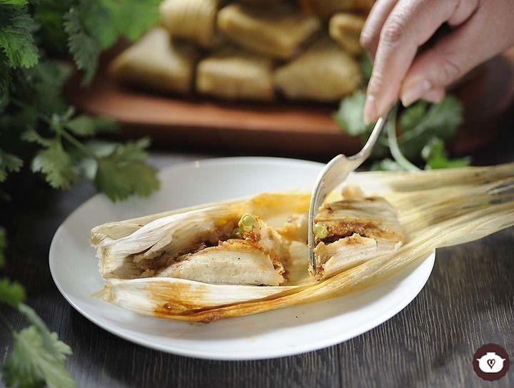 Tamales rellenos de picadillo