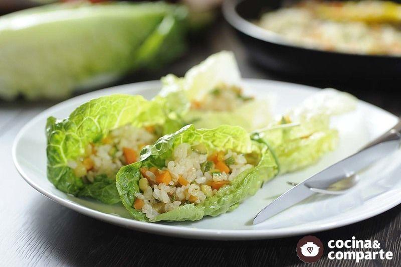 Rollos de arroz con verduras