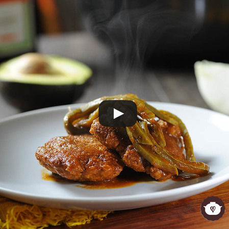 Tortitas de camarón con nopales