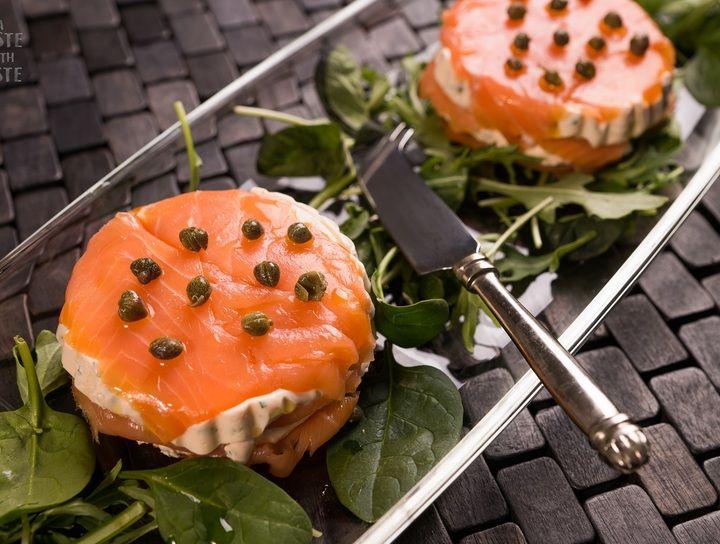 Terrinas de queso y salmón