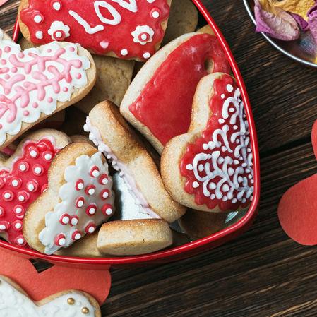 Galletas glaseadas para San Valentín