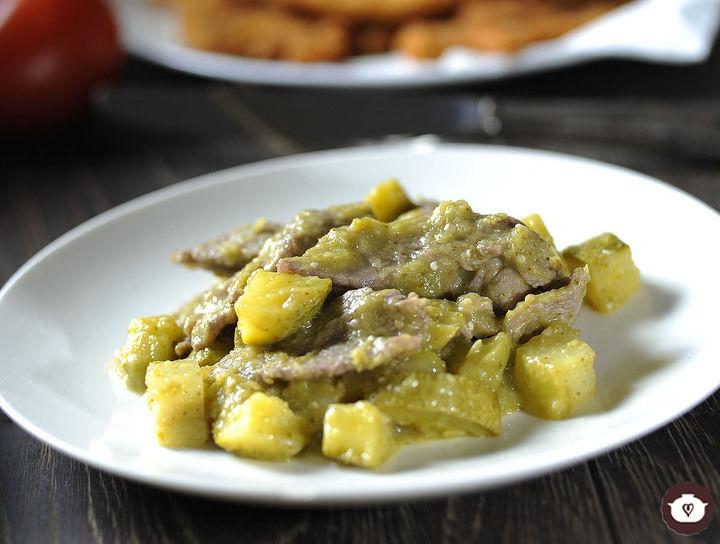 Receta Bistec de res en salsa verde | CyC