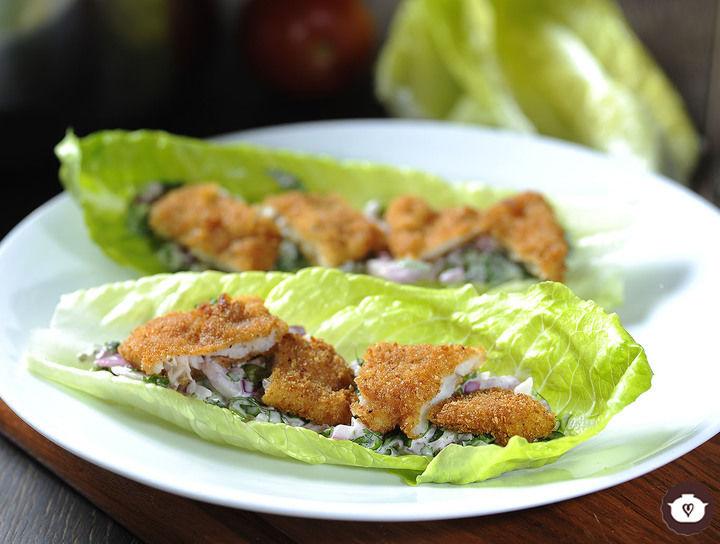 Tacos verdes de pescado