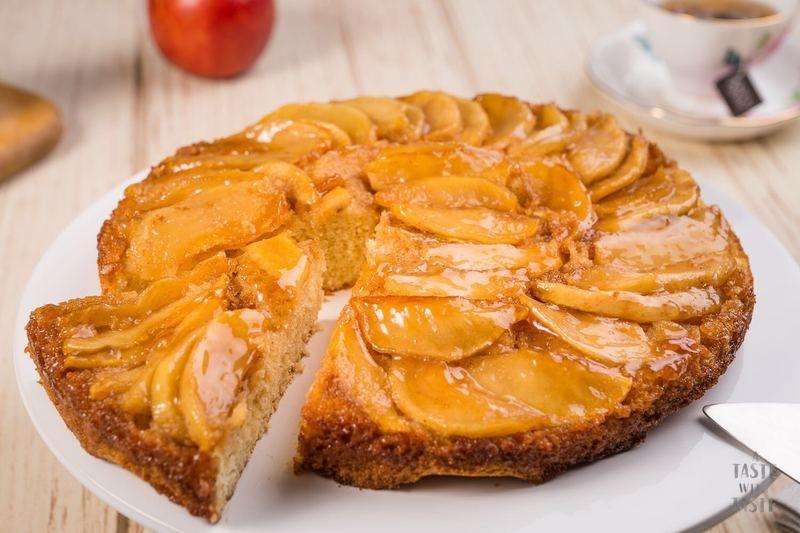 Pastel de manzana invertido