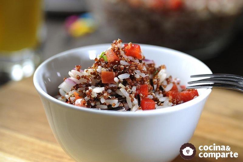 Ensalada de quinoa con arroz