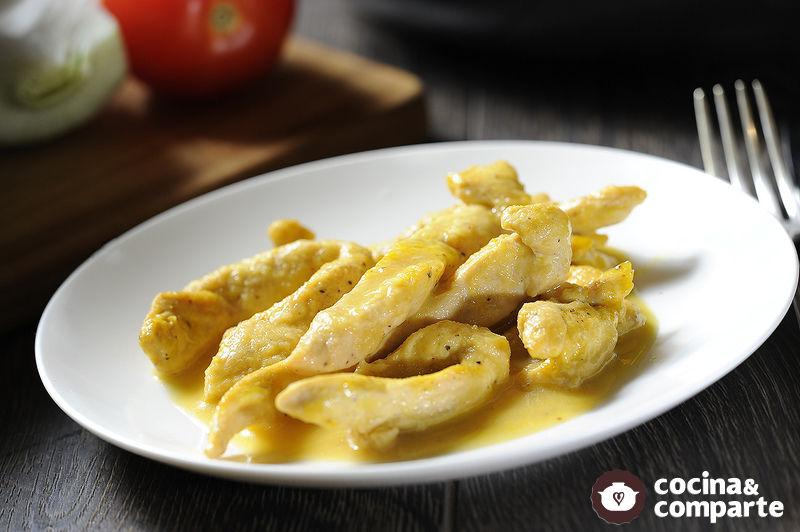 Fajitas de pollo a la naranja