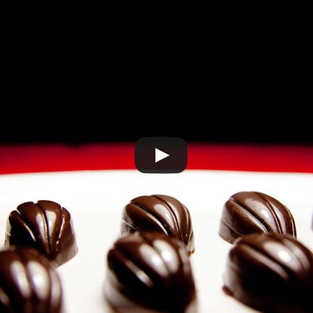 Chocolates rellenos de ganache