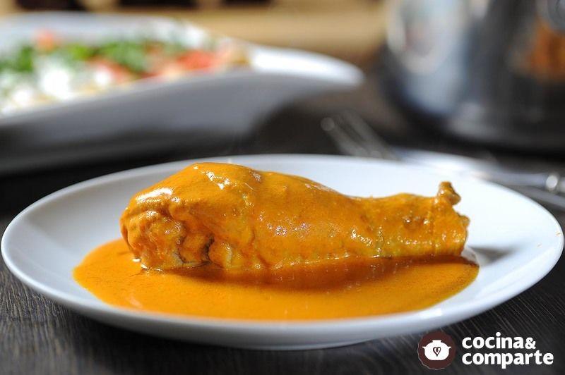 Guisado de pollo con almendras