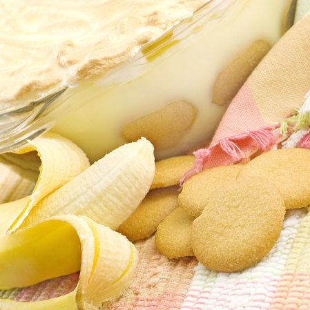 Pudín de plátano y merengue