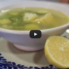 Caldo de pollo con verduras