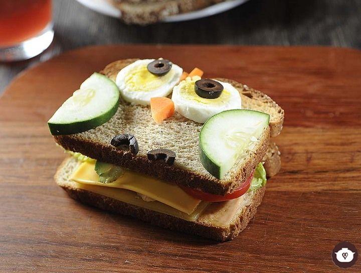 Sándwich de pollo con queso