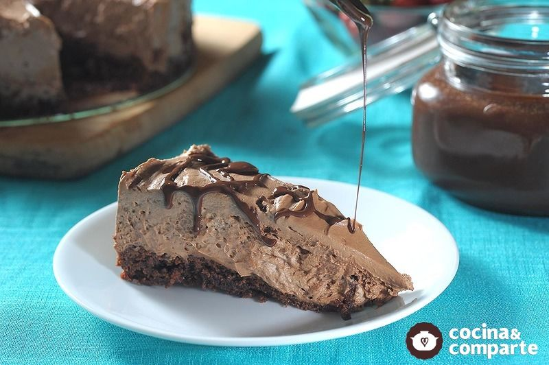 Pay de queso con brownie