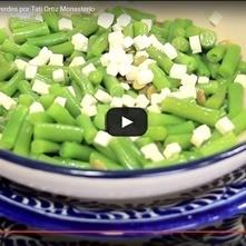 Ensalada de ejotes y pepitas verdes