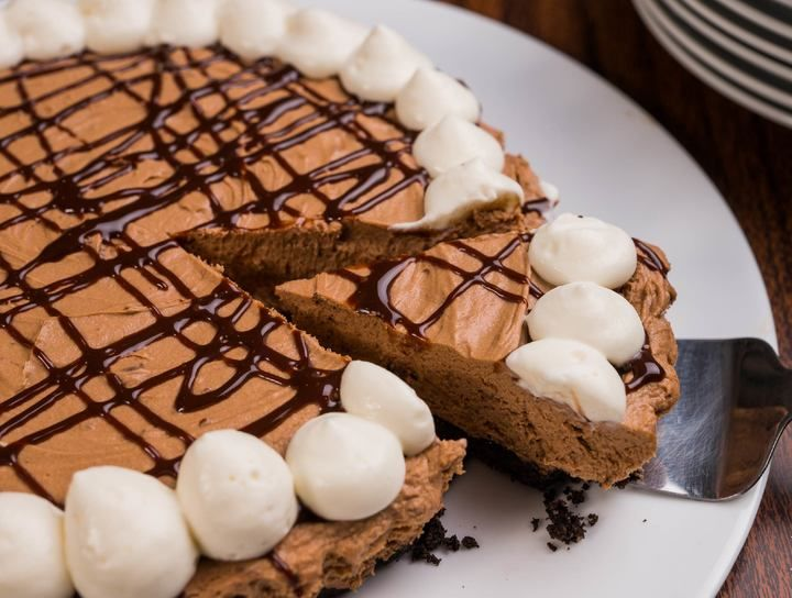 Cheesecake de chocolate sin horno