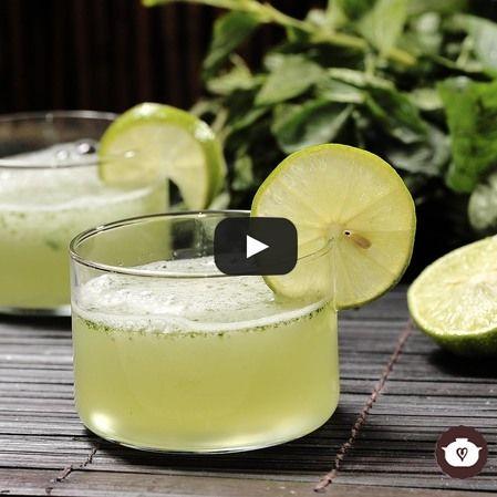 Granizado de hierbabuena y limón