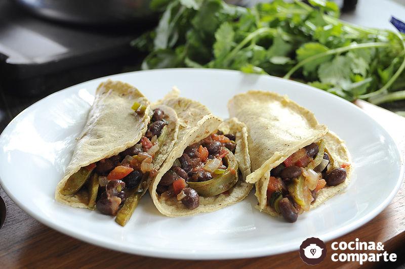 Receta Tacos Vegetarianos Sencillos Cyc - Recetas-para-vegetarianos-sencillas