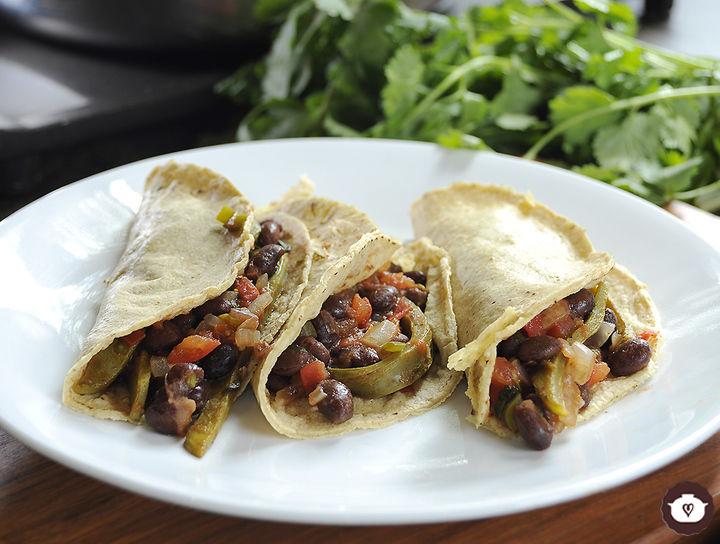 Tacos vegetarianos sencillos