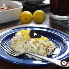 Tallarines en salsa de limón