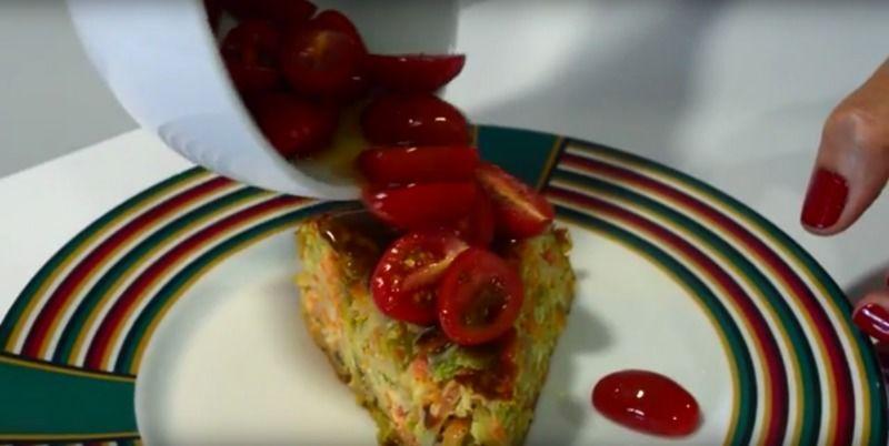Torta de verduras sin horno