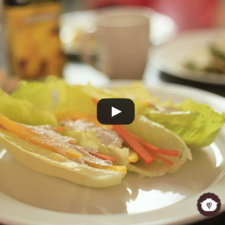 Tacos de lechuga rellenos