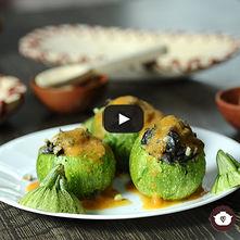Calabacita rellena vegetariana