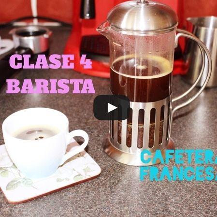 Café con cafetera francesa