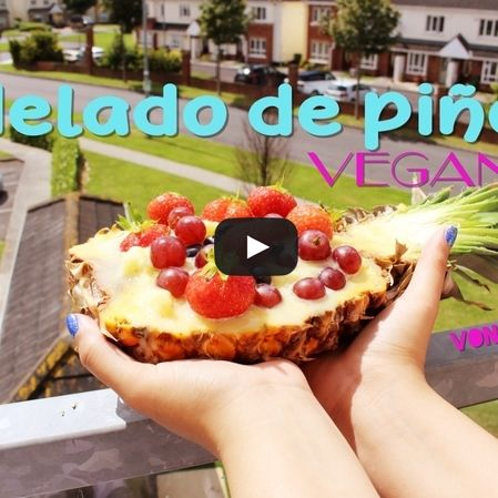 Helado vegano de piña