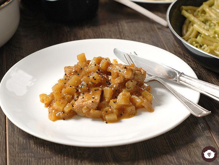 Carne de cerdo en salsa de morita