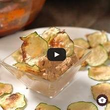 Chips de calabacita horneadas