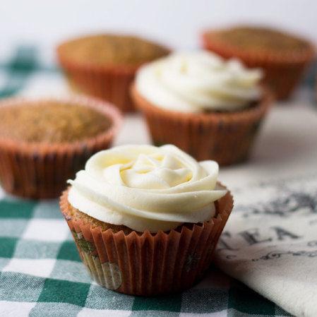 Muffins de zanahoria con crema de mascarpone