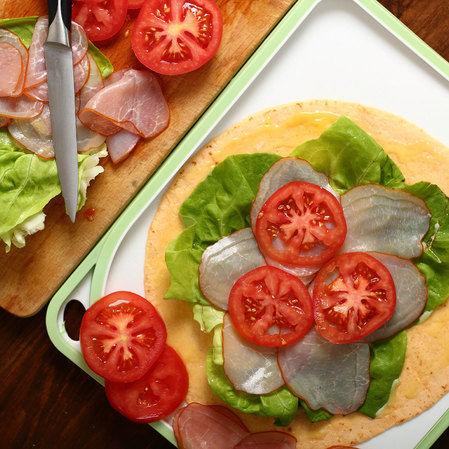 Mini sándwich de lechuga