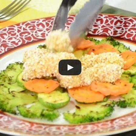 Dedos de salmón empanizados con amaranto