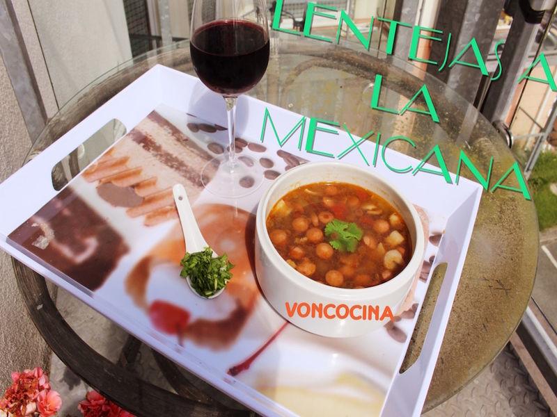 Lentejas a la mexicana