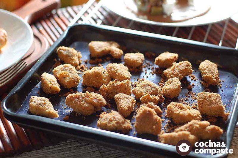 Cubos de pollo al orégano